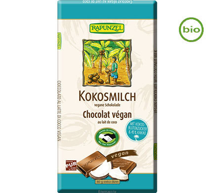 Rapunzel COCONUT MILK CHOCOLATE vegan, organic, 80g
