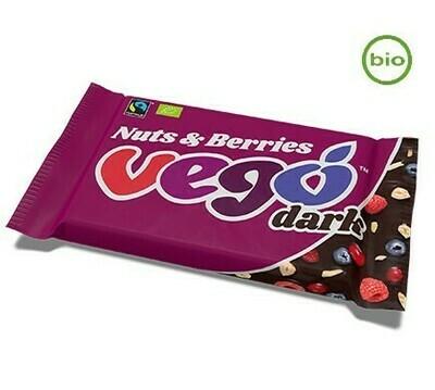 Vego Dark Nuts and Berries!! Organic, Fairtrade, Gluten-Free! 85g