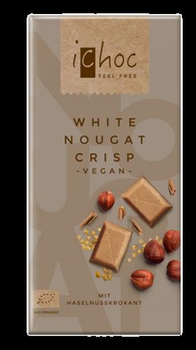 Ichoc Organic White Chocolate - Nougat Crisp 80g