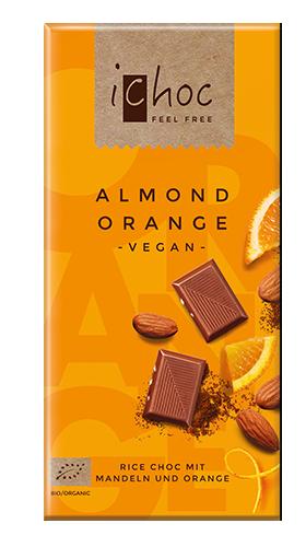 Ichoc Organic Almond Orange Rice Milk Chocolate 80g