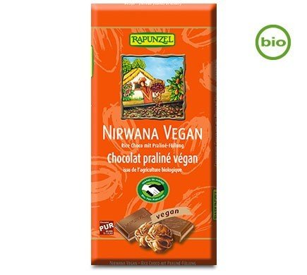 Rapunzel Nirwana Vegan chocolate with Truffle filling 100g - Organic and Fairtrade