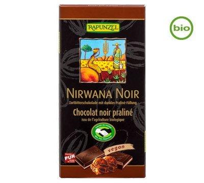 Rapunzel NIRWANA NOIR with Praliné filling, 100g - Organic and Fairtrade