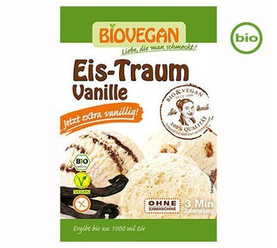 Vegan Ice Cream Powder, Organic, Vanilla, use your own plant milk and cream