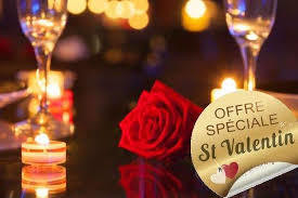 Saint Valentin pour 2 menus boissons comprises