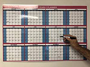 2020 Dry Erase Wall Calendar/Yearly Planner 24x36