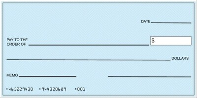 Large Blank Presentation Check - Rollable