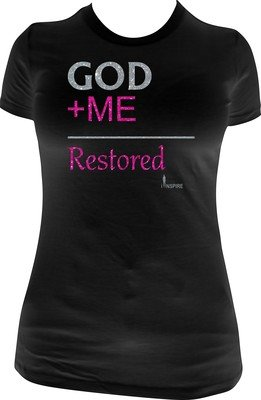 God + Me = Restored Glitter Vinyl Shirt
