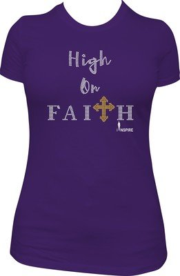 High on Faith Rhinestone Shirt