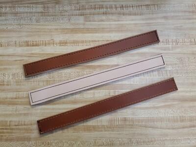 3 leather strip