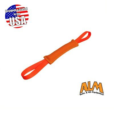 "8"" x 1.5"" Orange Tug with 2 Orange Handles"