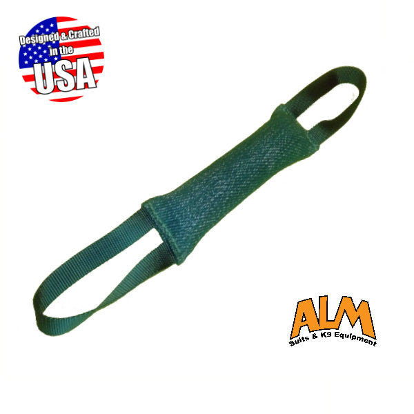 "12"" x 2.5"" Green Tug with 2 Green Handles"