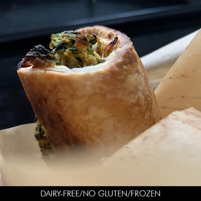 Spinach & Chickpea Paté GF Pastry Roll