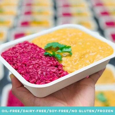 Pumpkin Curry with Beet Rice