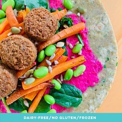 GF Rainbow Falafel Wrap