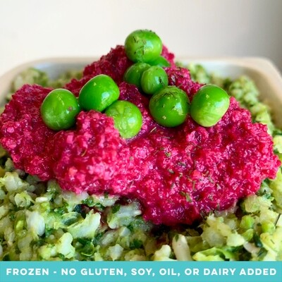 Buckwheat Green Risotto with Beetroot Cashew Pesto