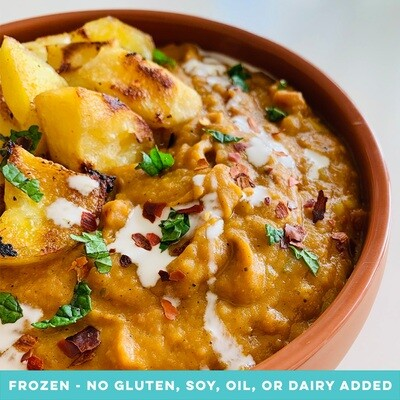 Coconut & Yellow Pea Dahl with Roast Potatoes