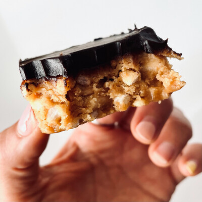 Peanut Butter Crunch with handmade Ganache