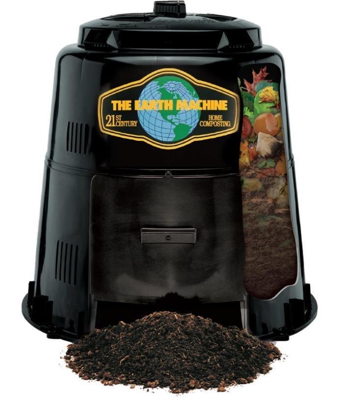 Earth Machine Backyard Compost Bin - *INCLUDES A FREE Kitchen Scrap Pail & Rottwheeler!