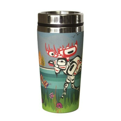 Bamboo Travel Mug - Moose