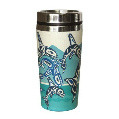 Bamboo Travel Mug - Orca Family