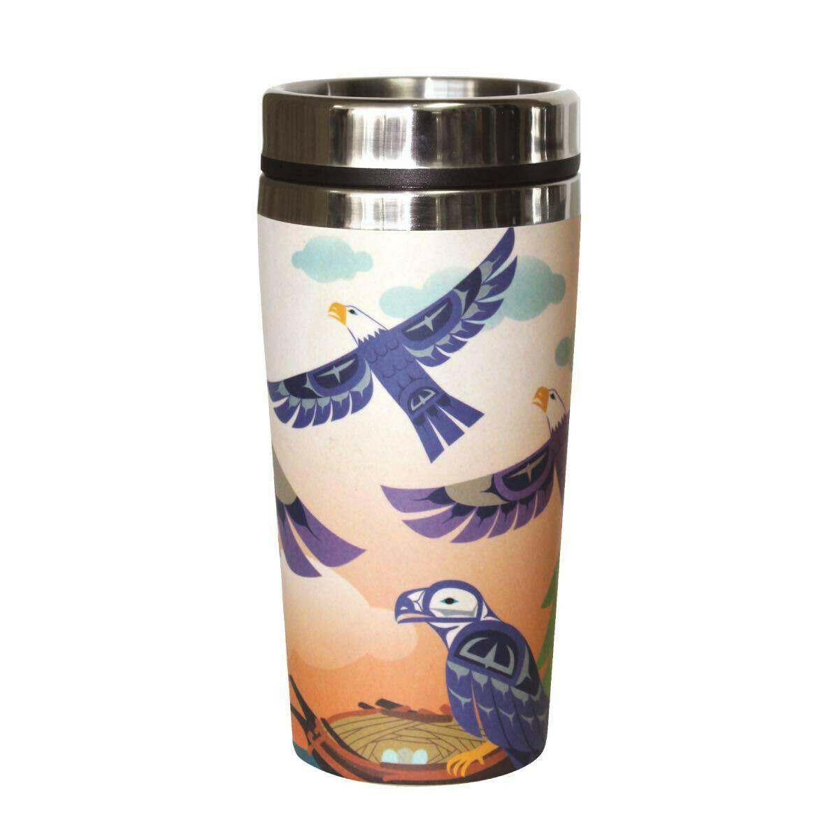 Bamboo Travel Mug - Eagle Family