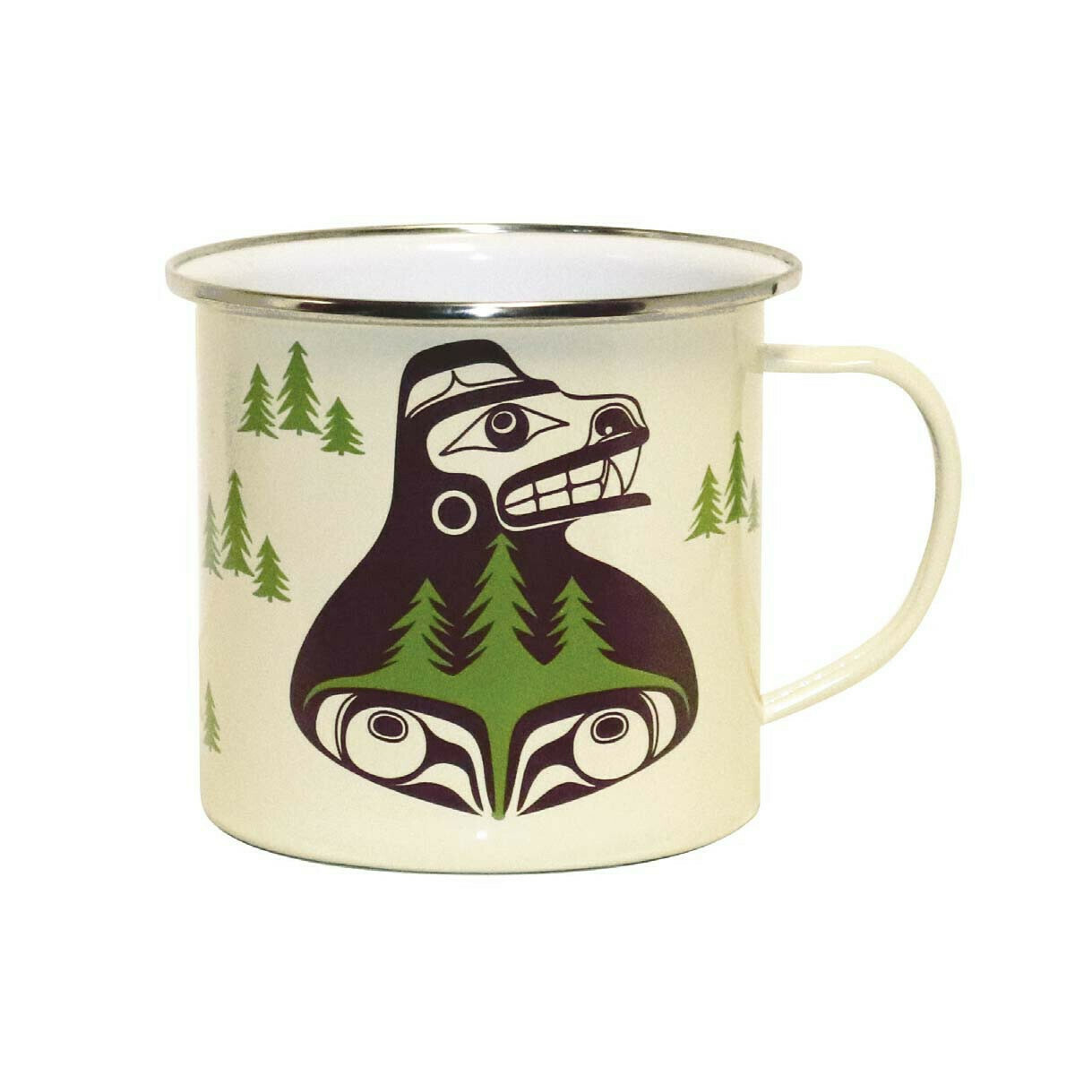 Enamel Mug - Bear The Tree Hugger