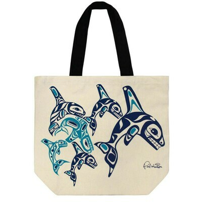 Canvas Tote - Orca Family