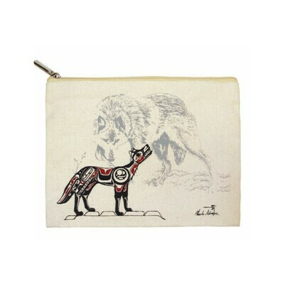 Zippered Pouch - Wolf