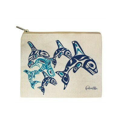 Zippered Pouch - Orca Family