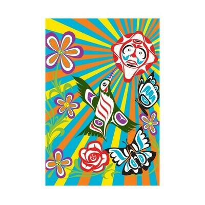 Folding Greeting Card - Good Morning World