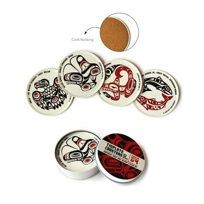 Tinplate Coasters - Set of 4