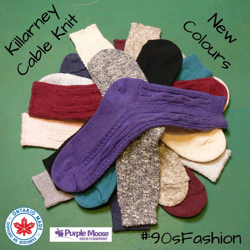 Killarney Cable Knit Crew in 12 colours