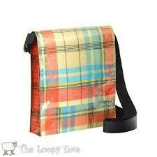 Vintage Plaid Messenger Bag