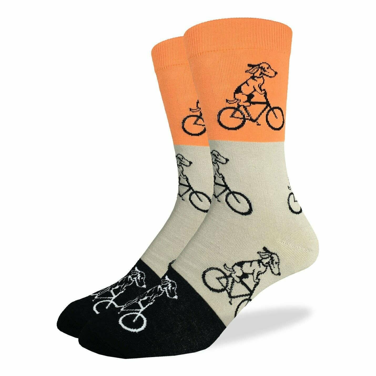 Orange Dogs on Bikes