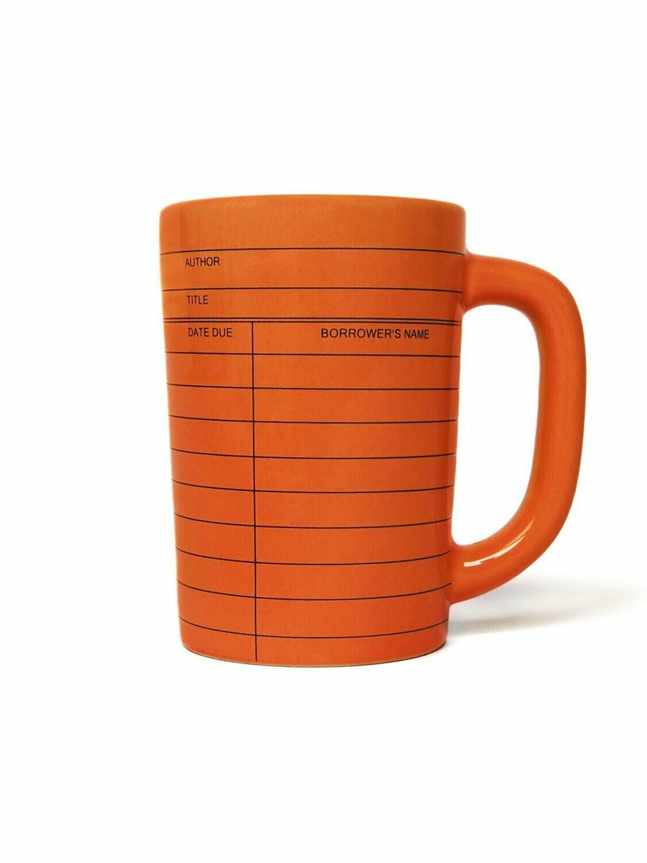 Library Card red mug