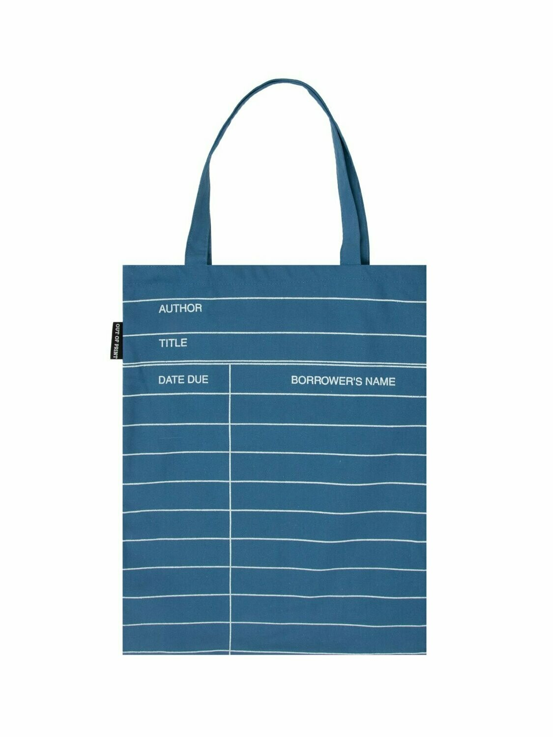 Library Card blue tote bag