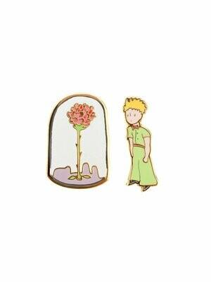 The Little Prince enamel pin set