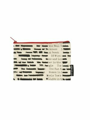 Banned Books canvas literary pouch