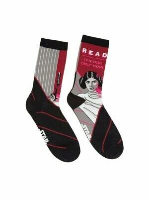 Princess Leia Star Wars READ socks