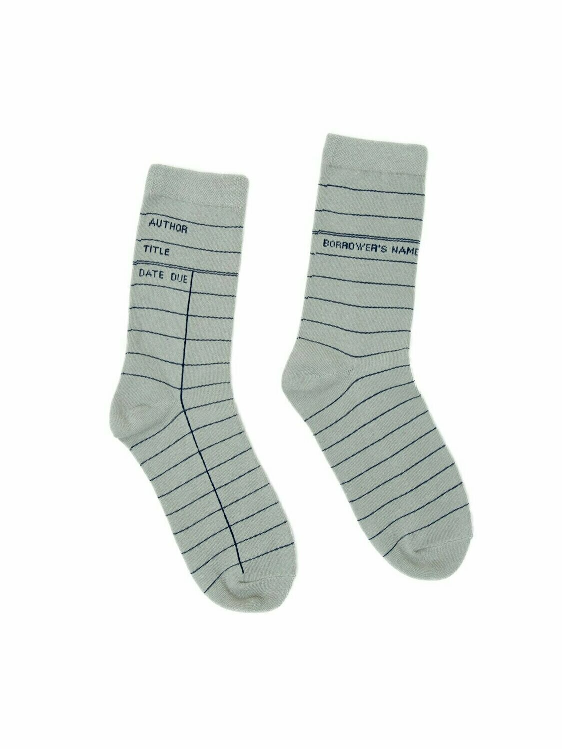 Library Card: Light Gray socks
