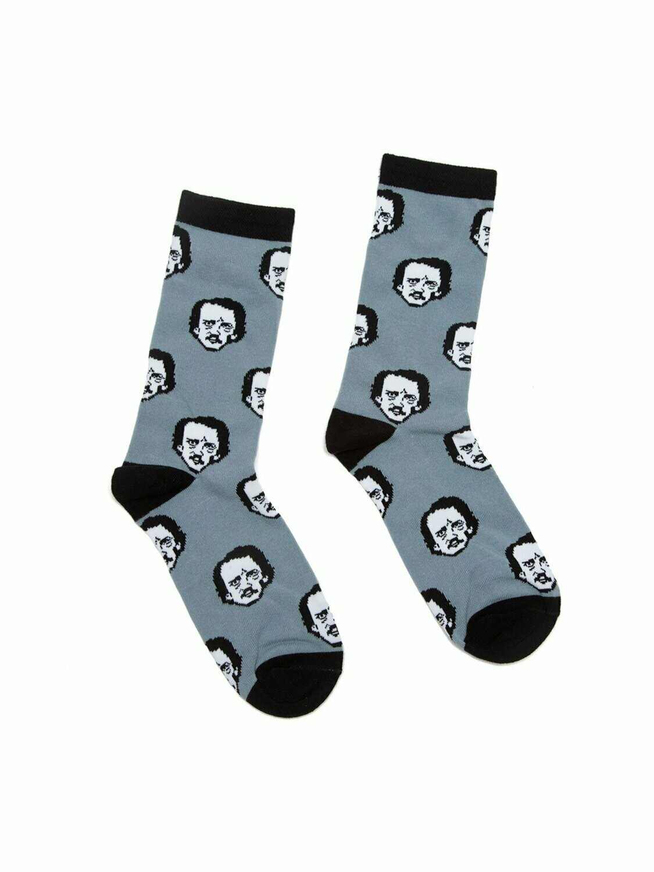 Edgar Allan Poe-ka Dots socks