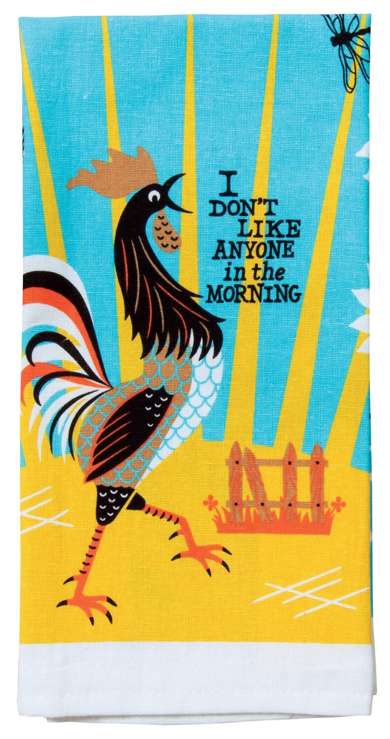 I Don't Like Anyone In The Morning dish towel