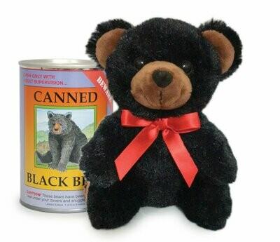 "6"" Canned Black Bear"