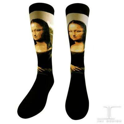 The Mona Lisa by Leonardo da Vinci socks