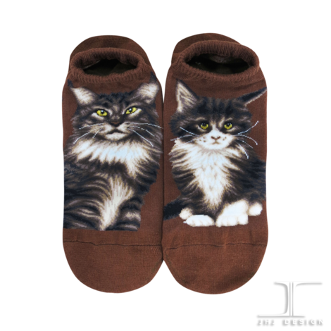 Cats - Maine Coon Ankle Socks