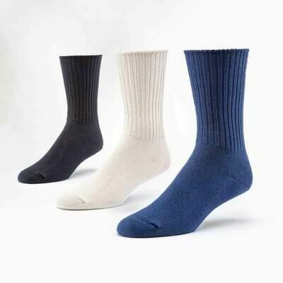Organic Cotton Crew Socks - 3 Pack