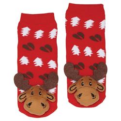 Moose Plush socks