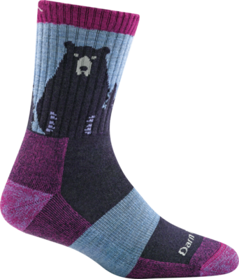 WOMEN'S BEAR TOWN MICRO CREW LIGHTWEIGHT HIKING SOCK