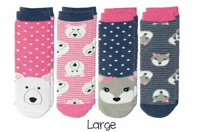 Cabin Socks - Polar Bear and Arctic Fox 4-pair pack