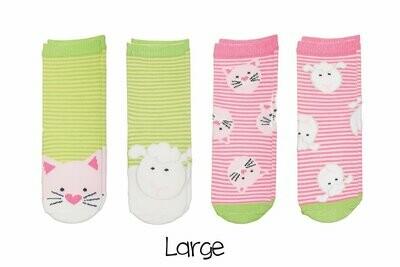 Sock Safari - Kitten and Lamb 4-pair pack
